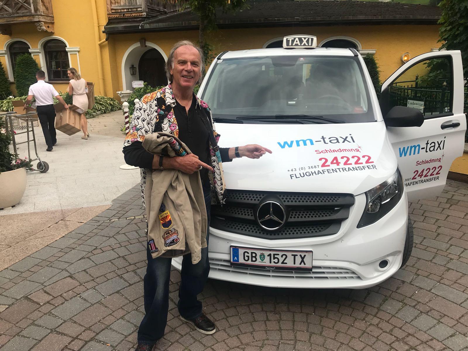 Wolfgang Fierek zu Gast bei WM Taxi in Schladming